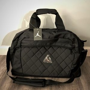 Nike Metal Jordan Jumpman Logo Duffel Gym Bag